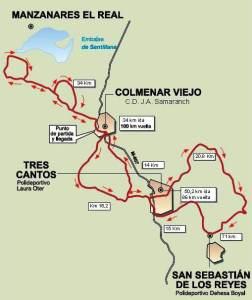 100 Kilómetros Madrid 2013: Mapa completo.