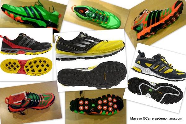 Zapatillas Trail Adidas 2013: Adizero XT4, Adistar Raven, Kanadia5, Supernova Riot5 y Response Trail 20.