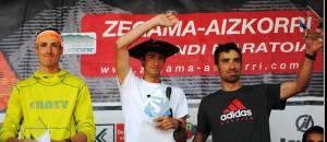 Zegama Aizkorri 2013: 1 Kilian Jornet. 2 Luis Alberto Hernando 3. Tadei Pivk
