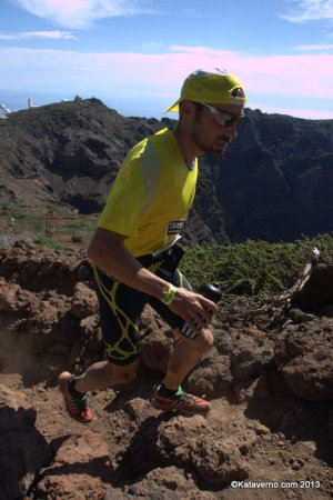 Adidas Trail: Luis Alberto  Hernando con Supernova Riot 5 en Transvulcania.