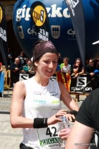 Sara García-Boix cruzando meta en Zegama 2013
