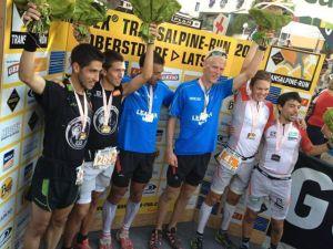 Transalpine Goretex run 2013 podio masculino. Foto Transalpine.