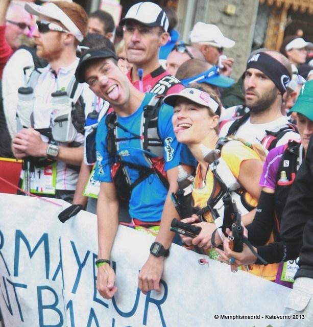 Ultra trail CCC 2013 fernanda maciel y Yeray Duran salida foto kataverno