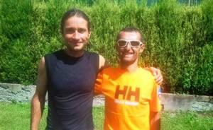 Ultra trail Echapee Belle: Oscar Perez Lopez (1º) y Raul Frechilla. (2º) foto raul frechilla