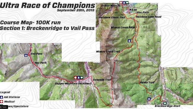 UROC 100k Colorado Mapa seccion 1 de 3.