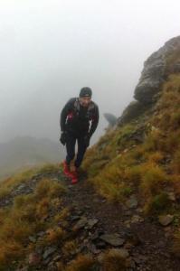 Ancares 3 Trails Jorge Luis Alvarez vencedor Moonrace al paso por Miravalles