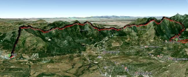 Rutas montaña Madrid el escorial a cercedilla Panorámica.