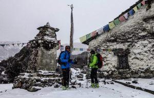 kilian-jornet fotografía a  Jordi Tosas y Jordi Corominas durante su expedición. Foto: Kilian Jornet.