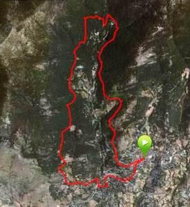 Carrera Cercedilla 2013 Mapa carrera