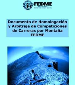 Carreras montaña FEDME homologacion y arbitraje