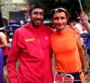 Trail Aneto 2013: Nuestro colaborador José Irurozqui con Oscar Pérez, campeón de la prueba reina
