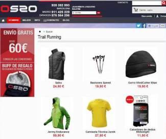 Tienda de Montaña online de OS2O.