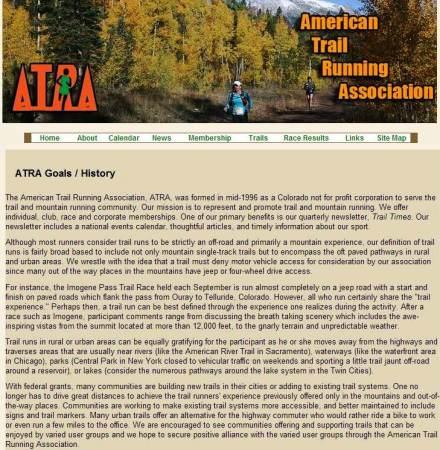 American Trail Runnning Association History