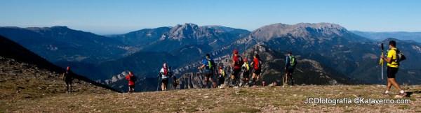 Ultra Pirineu 2014: El recorrido al paso del techo carrera, 2500m en Niu de l´Aliga