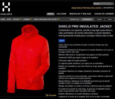 Cortavientos Haglöfs Shield Pro Insulated Jacket