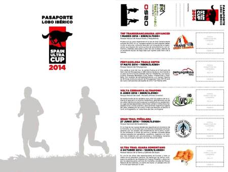 Spain Ultra Cup. Pasaporte Lobo Iberico 2014 Anverso y reverso