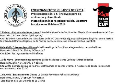 Gran trail Peñalara 2014 entrenamientos guiados