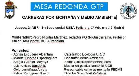Carreras montaña y medio ambiente Mesa redonda GTP 24ABR