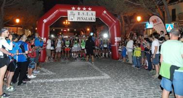 Gran Trail Peñalara 2014 La magia en la salida nocturna de Navacerrada. Foto Carlos Muñoz-Repiso.