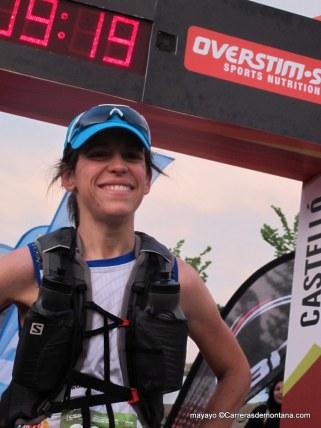 Judit Lamas, tercera en meta.