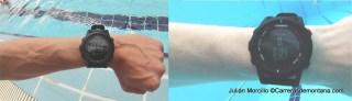 Garmin Fenix2, fuera y dentro del agua trabajando en modo Pool.