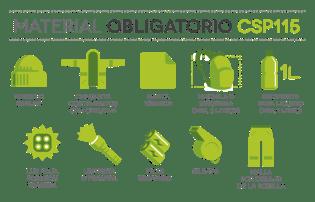 fotos CSP115 material obligatorio