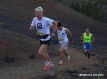 Transvulcania 2013: Cameron Clayton y Kilian Jornet en los primeros compases de la prueba.