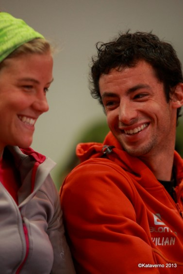 emelie forsberg and kilian jornet photo at zegama 2013