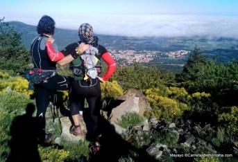 Entrenamiento trail: Panorama de La Granja desde la pista al Reventón.