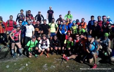 Entrenamiento trail: Foto de grupo en el Puerto de reventón.