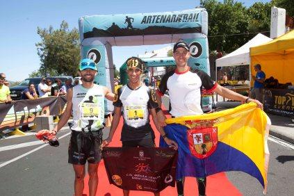 Artenara Trail 2014: podio masculino.