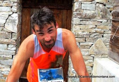 Luis alberto hernando adidas trail en meta Matterhorn Ultraks 2013