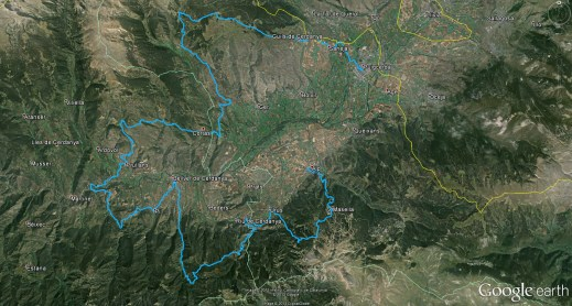 Volta Cerdanya ultra fons mapa recorrido