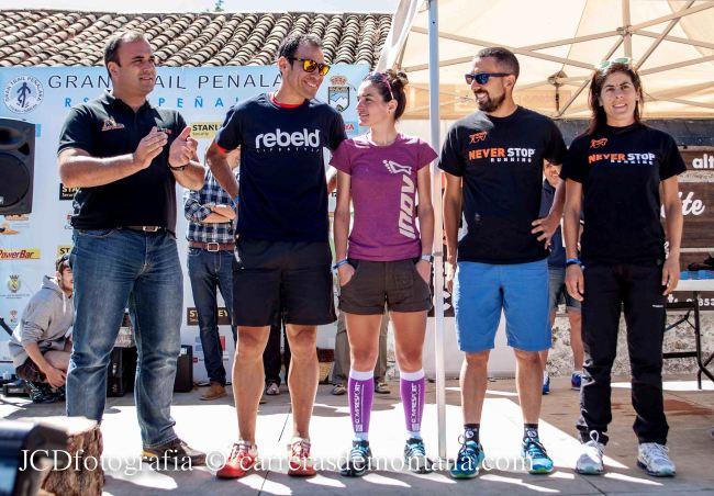 Integrantes del podio Spain Ultra Cup tras GTP14: Pedro Bianco,  Judit franch, Juan María Jiménez y Alicia Chaveli.