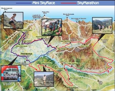 Giir di Mont 2014 Mapa de carrera