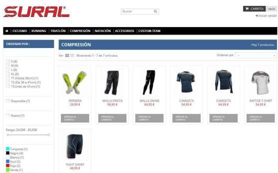 Tienda online Sural: Gama Compresora
