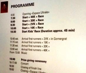 Matterhorn UltraKS 2014 programa