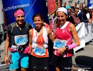 Podio femenino meta: Stevie Kremer, Elisa desco y Maite Maiora