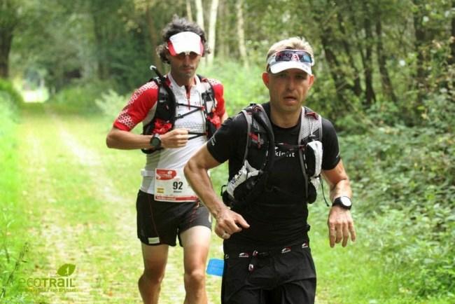 Eco trail Bruselas 2014: Alfonso Rodríguez peleando en cabeza.