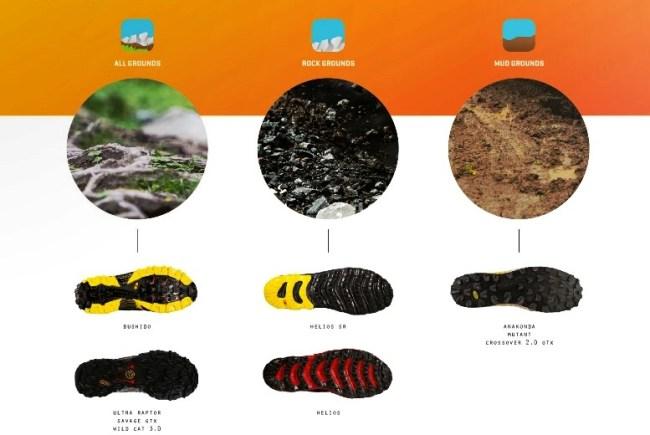 Zapatillas La Sportiva:  Tres tipos suelas 2014