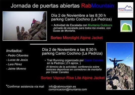 Convocatoria: Trail y charla Dr César Canales 2NOV-8.30 Cantocochino