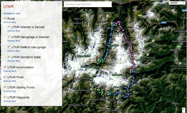 Ultra trail Monte Rosa 2015: Mapa carrera provisional
