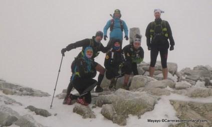 Entrenamiento Ultra trail a bajo cero. Mochilas amplias con material de abrigo