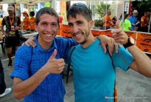 Pablo Villa y Manuel Merillas en meta Transvulcania14, ambos en top10