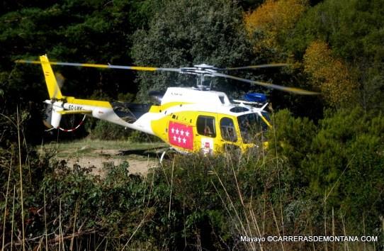 Accidente Montaña Madrid: Atención por helicoptero GERA en Pedriza