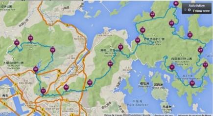 hong kong 100 ultra: Mapa oficial 2015