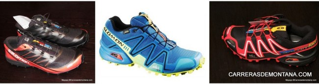 Zapatillas Salomon: Diferentes cubiertas Fellcross, Speedcross Goretex y Spikecross3