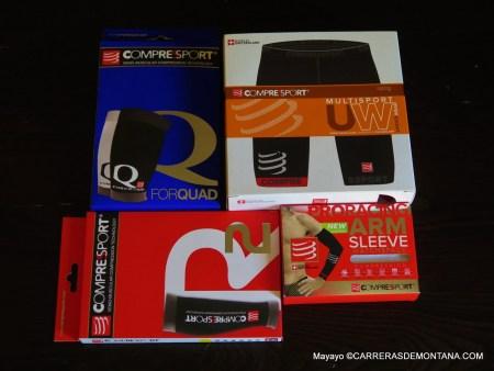 Compressport: Kit básicos 2015. Muslera, gemelera, manguitos e interior