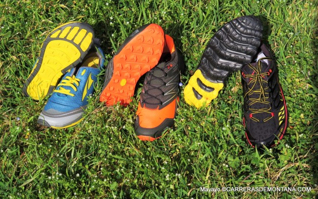 Zapatillas Trail 2015: Altra Superior 2; TNF MT Ultra y La Sportiva Helios