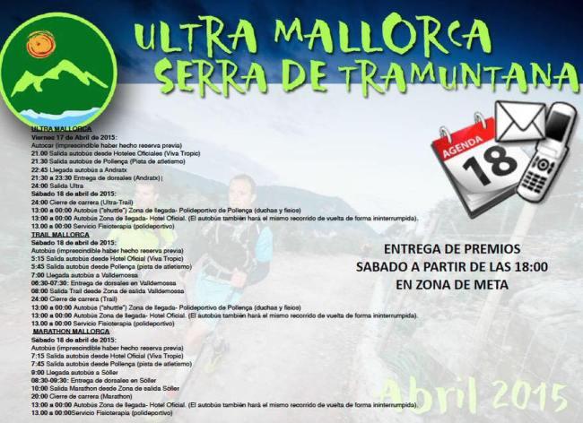 Ultra Mallorca 2015: Programa completo